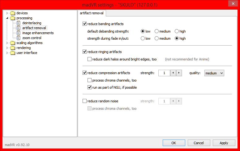 Configuration: madVR